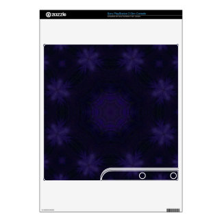 Purple abstract pattern PS3 slim console decals