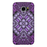 Purple abstract pattern samsung galaxy s6 cases