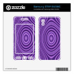 purple abstract pattern samsung STAR S5230C decal