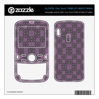 Purple Abstract Pattern ALCATEL Tribe Skin