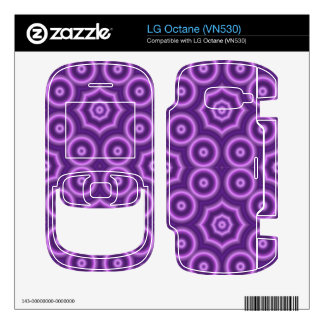 Purple abstract pattern LG octane decals