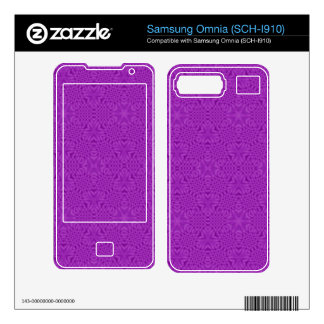 Purple abstract pattern samsung omnia decal