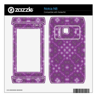 Purple Abstract Pattern Decal For The Nokia N8