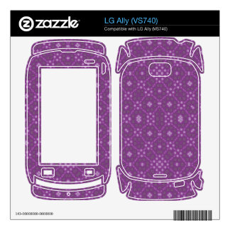 Purple Abstract Pattern Decals For The LG Ally