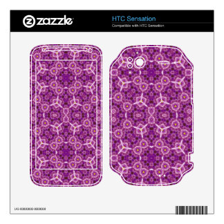 Purple Abstract Pattern Decals For HTC Sensation