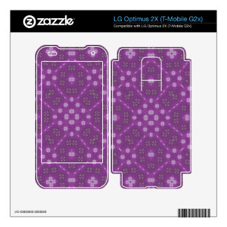 Purple Abstract Pattern Decal For LG Optimus 2X