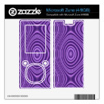 purple abstract pattern skin for zune