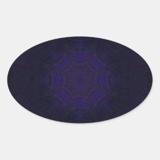 Purple abstract pattern oval sticker