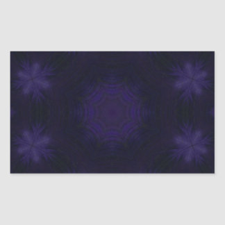 Purple abstract pattern rectangular sticker
