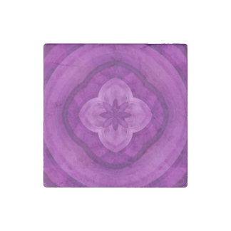 Purple abstract pattern stone magnet