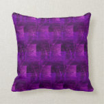 Purple Abstract Pattern Throw Pillow