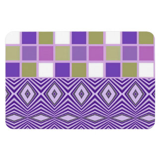 Purple Abstract patterns Magnet