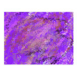 Purple abstract postcards