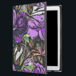 """Purple Abstract Roses iPad Pro 12.9&quot; Case<br><div class=""""desc"""">Also available for other devices Accessorize and protect your iPad Pro with the hard cover Powis iCase iPad Pro case. Custom made with premium book cloth and finished with glossy laminate, this hard cover case is a durable and elegant way to show off your favorite designs, photos, images, and text....</div>"""
