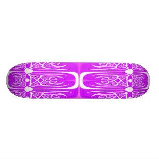 Purple Abstract Skateboard