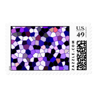 Purple Abstract Stained Glass Mosaic Postage
