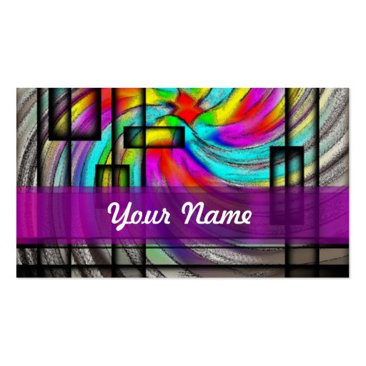 Purple abstract swirl Double-Sided standard business cards (Pack of 100)