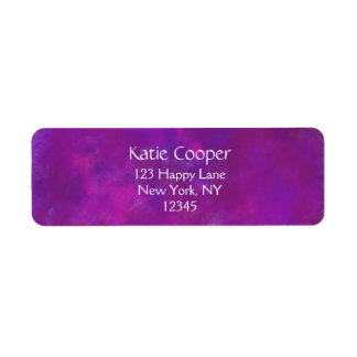 Purple Abstract Texture Return Address Labels