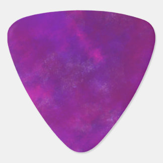 Purple Abstract Watercolor Guitar Pick