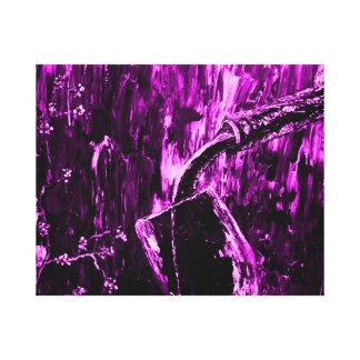 Purple Abstract Wine Bottle Gallery Wrapped Canvas