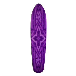 Purple abstract wood cross skate deck
