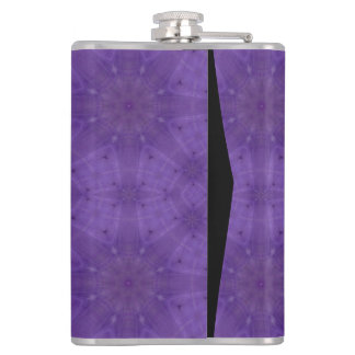 Purple abstract wood flask