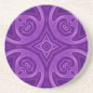 Purple abstract wood pattern coaster