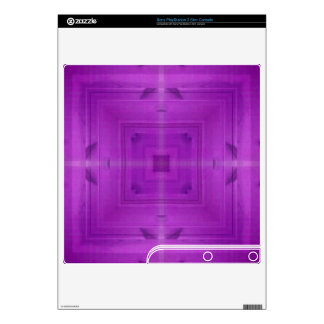 Purple Abstract wood pattern Decals For PS3 Slim
