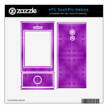 Purple Abstract wood pattern HTC Touch Pro Skin