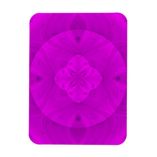 Purple abstract wood pattern rectangular photo magnet