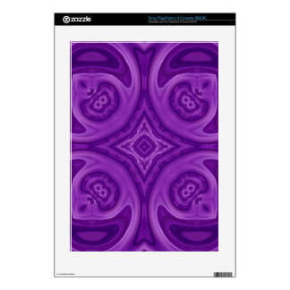 Purple abstract wood pattern PS3 decal