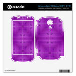 Purple Abstract wood pattern Samsung Epic Decal
