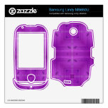 Purple Abstract wood pattern Samsung Lindy Decals