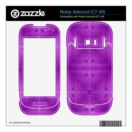 Purple Abstract wood pattern Skin For Nokia Astound