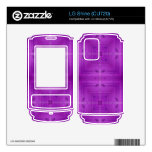 Purple Abstract wood pattern Decals For The LG Shine