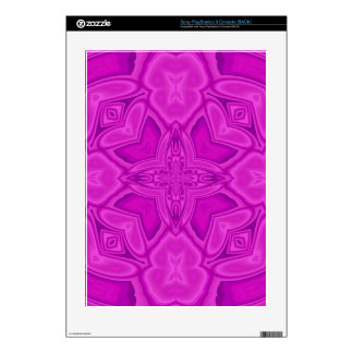Purple abstract wood pattern skin for PS3