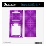 Purple Abstract wood pattern Skin For Samsung R211
