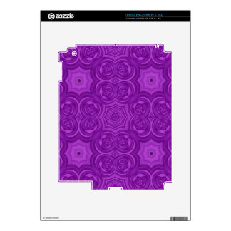 Purple abstract wood pattern skins for iPad 2