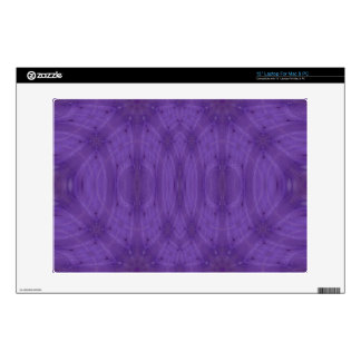 Purple abstract wood skin for laptop