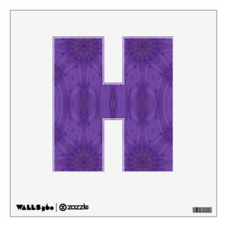 Purple abstract wood room graphics
