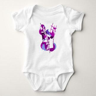 Purple abstraction baby bodysuit