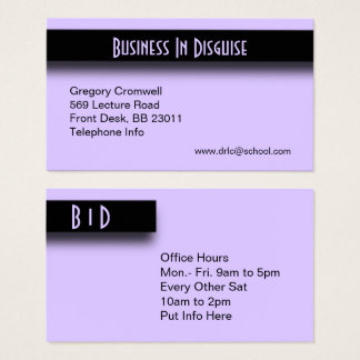 Purple Accent Business Card