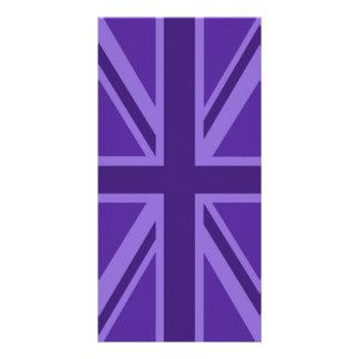 Purple Accent Union Jack Decor Card