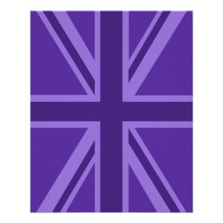 Purple Accent Union Jack Decor Flyer