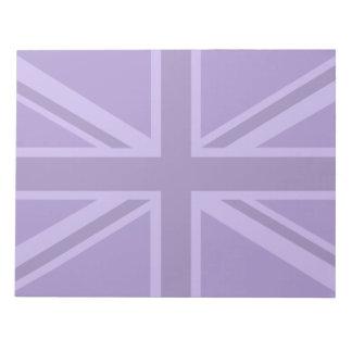 Purple Accent Union Jack Decor Notepad