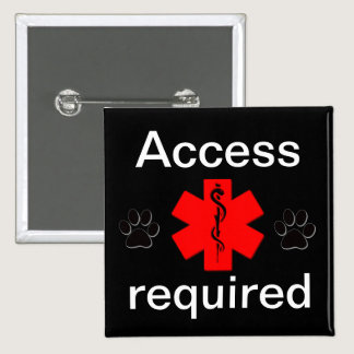 Purple access required medical alert button