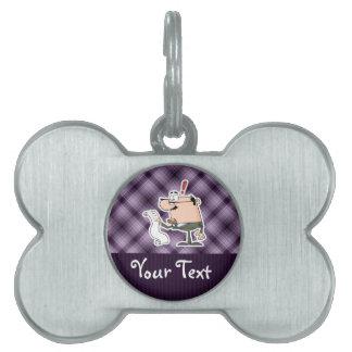 Purple Accountant Pet Tag