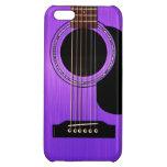Purple Acoustic Guitar iPhone 5C Cases