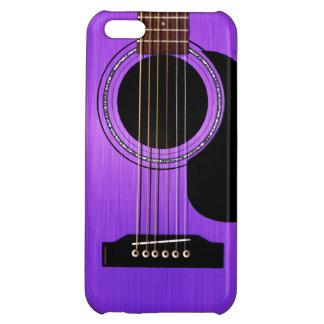 Purple Acoustic Guitar iPhone 5C Cover