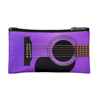 Purple Acoustic Guitar Makeup Bag